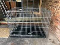 Large silver dog cage