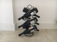 Black Metal Wine Rack for 6 bottles - very contemporary style