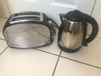 Morphy and Richards kettle toaster set Chrome