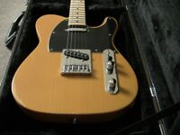 Telecaster guitar with case