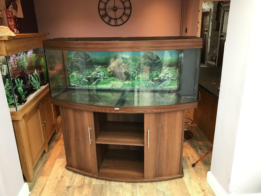 Juwel Vision 450 Aquarium And Cabinet In Dark Wood In