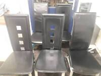 5 leather dining room chair
