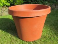 Large Heavy Duty Plastic Terracotta Plant Pot
