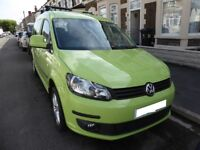 VW Caddy Maxi Camper 2.0L Diesel (Rare Lime Green Colour)