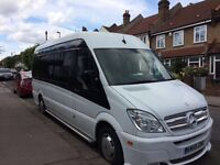 Luxury 17 seater minibus with driver