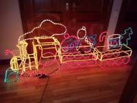 3d train with changeable light settings for light speed