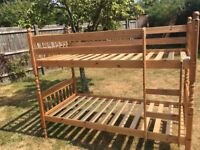 Solid pine wood bunk beds - sold