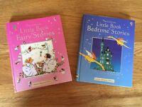 Little Book of Bedtime Stories & Fairy Stories (2 books), Usborne, hardbacks