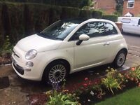 Fiat 500, 1.2, pearl white, mint cond, 12 months Mot.