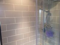 attingham mist tiles from topps tiles and some grout