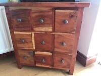 Solid wood Drawer unit