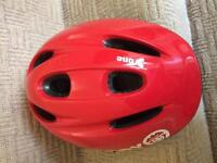 Red child's cycle helmet - excellent condition