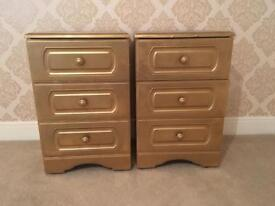 Double bed side cabinets (Gold)
