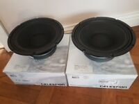 "Pair of Celestion TF1020 10"" Guitar / Bass / Mid Range Speakers 150 Watt 8 Ohm"