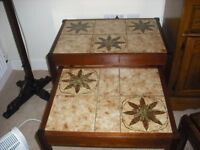 NEST OF 2 TILED COFFEE TABLES