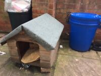 Wooden cat doghome box outdoors