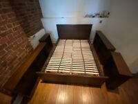 FREE IKEA Brusali standard double bed frame with storage