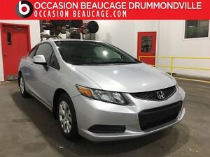 2012 Honda Civic Coupe LX - MANUELLE - A/C - BAS MILLAGE!!