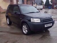 2002 LAND ROVER FREELANDER SERENGETI SE, 1.8 PETROL, 4X4, NEW CLUTCH JUST FITTED, ONLY 86K, LONG MOT