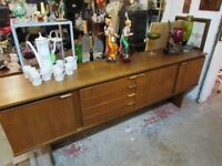 Retro Dining Suite - Stonehill Furniture. Sideboard Table & Chairs