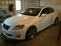 2009 Lexus 250 IS Pearl white