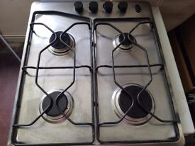 Stainless steel 4 burner hob in excellect condition. Collection. Complete. Fully working.