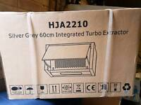 SILVER GREY 60cm INTEGRATED TURBO EXTRACTOR-HJA2210