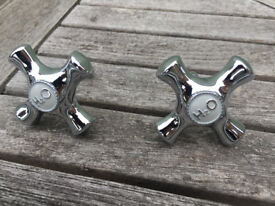 2 x door or drawer handles, ideal for an airing cupboard or other bathroom storage