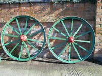 WHEELS PAIR OFF VINTAGE STUDDED TRACTION WHEELS LARGE wheels