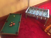 Foosball Table + Pool table kids toys