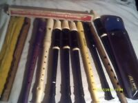 DESCANT RECORDERS by SCHOTTS , AULOS , some In CASES £5 . EACH OR offer for the LOT