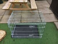 Large Dog Cage with front and side door entrance.