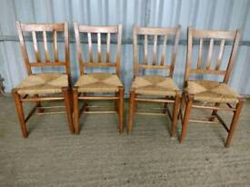 Four Vintage Wooden Dining Chairs