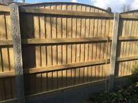 🍭Excellent Quality Arch Top Feather Edge New Fence Panels