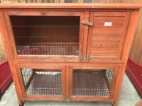 Double decker hutch for guinea pigs/small rabbits, plus extras