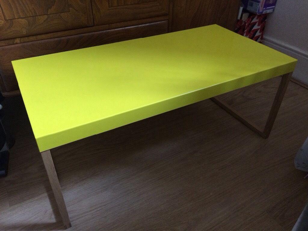 habitat kilo coffee table yellow | in portobello, edinburgh | gumtree
