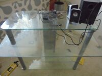 Glass computer desk-4 tier.