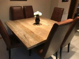 6 x leather dining chairs