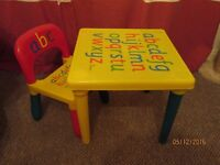 Childs table and chair