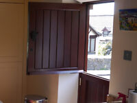 Timber Stable Door including keys and cat flap