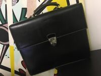 Aspinal of London men's leather briefcase