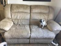RECLINER SOFA SETTEE AND ARMCHAIR