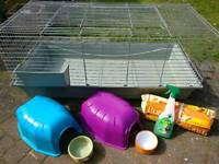 Guinea pig indoor cage and accessories VERY GOOD condition