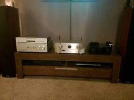 Brown tv unit / cabinet