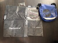 TECHNICS Record Bag and DMC DJ Accessories