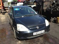 2003 Honda Civic 1.6 VTEC inspire S 5dr silver NH623M BREAKING FOR SPARES
