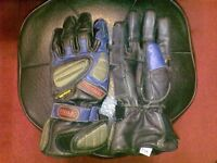 Leather bikers gloves size M