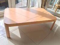 NEW CALLIGARIS Large Solid Beech Oblong Coffee Table Side Living Room 110 x 70cm Big Lounge RRP £325