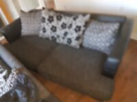 2 black fabric 2 seaters
