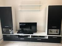 Tv unit & 2 cabinets (with LED)